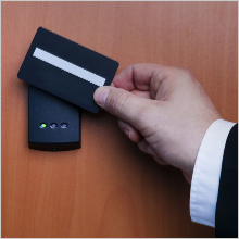 Access with a card swipe lock