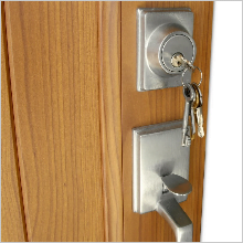 New lock installed on door